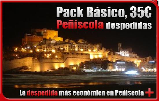 Pack básico despedida en Peñiscola