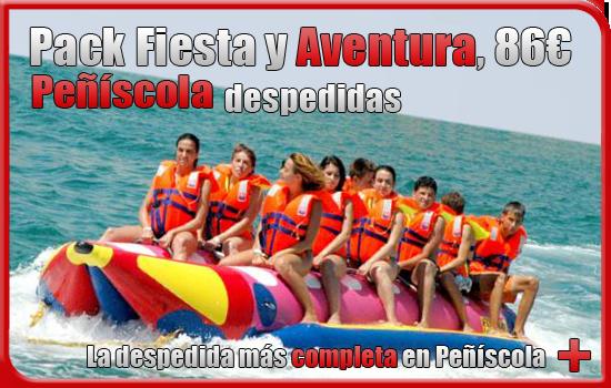 Pack fiesta y aventura despedidas en Peñiscola